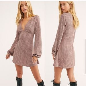 NWT Free people selin mini dress houndstooth